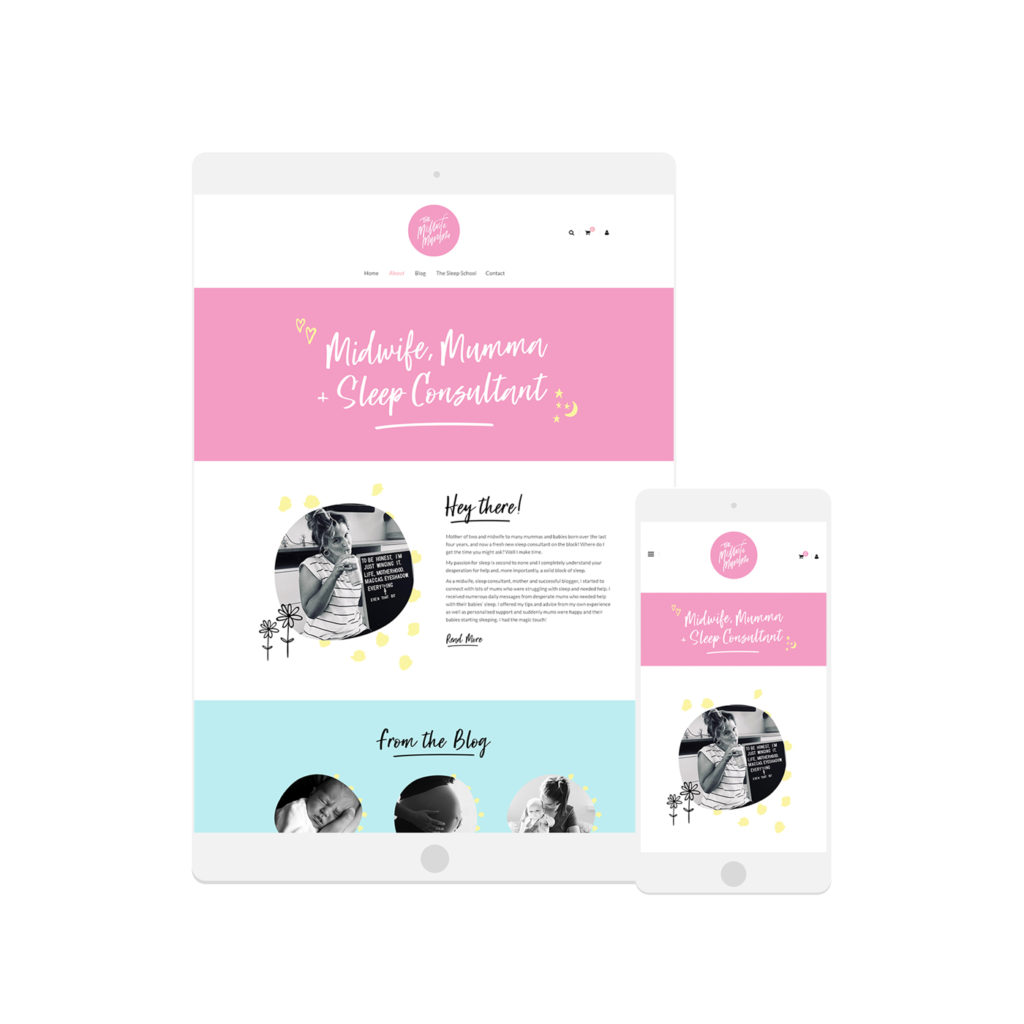 The Midwife Mumma - Website Design